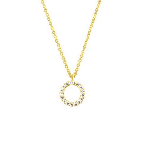 Colier din aur ETERNITY cu diamante albe