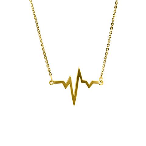 Colier din aur HEARTBEAT