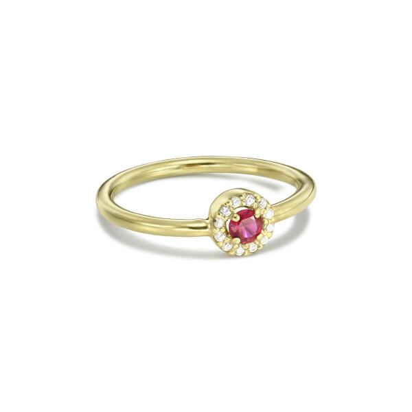 Inel Entourage cu rubin si diamante