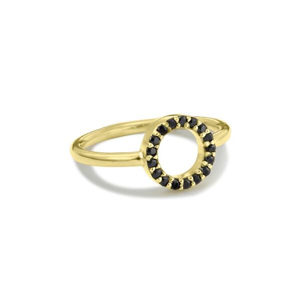 Inel din aur Eternity Circle cerc cu diamante negre