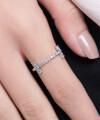 Inel din aur Balance cu diamante albe