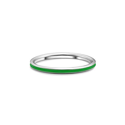 Inel din aur Jade Green cu email verde