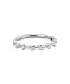 Inel din aur de 18k cu diamante albe in casete pe jumatate din ring