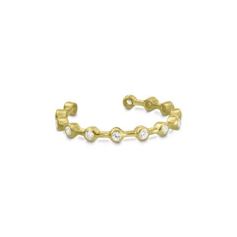 Inel din aur de 18k intrerupt cu diamante in casete