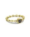 Inel din aur de 18k de logodna cu diamant negru central si diamante albe