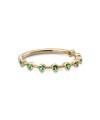 Inel din aur de 18k cu smaralde in casete