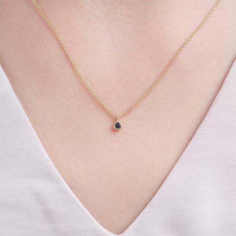 Colier din aur Believe cu diamant negru