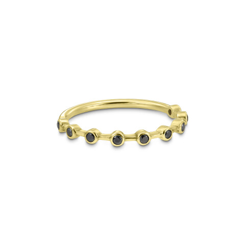 Inel din aur Hidden Code I cu diamante negre