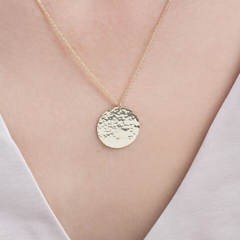 Colier din aur Hammered Coin