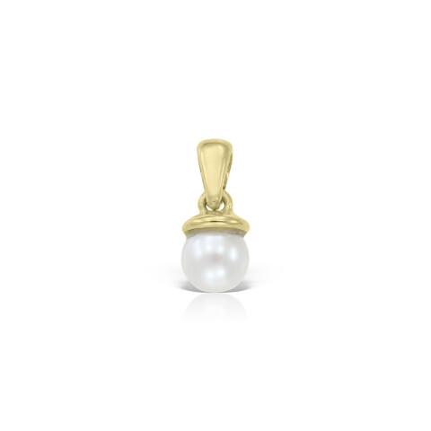 Pandantiv din aur cu perla alba