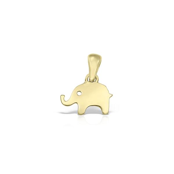 Pandantiv din aur elefant