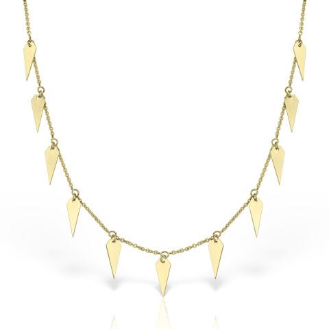 colier din aur cu pandantive in forma de diamant tip choker