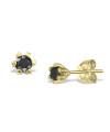 Cercei din aur Tiny Black Drops cu diamante negre