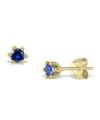 Cercei din aur Tiny Blue Drops cu safire