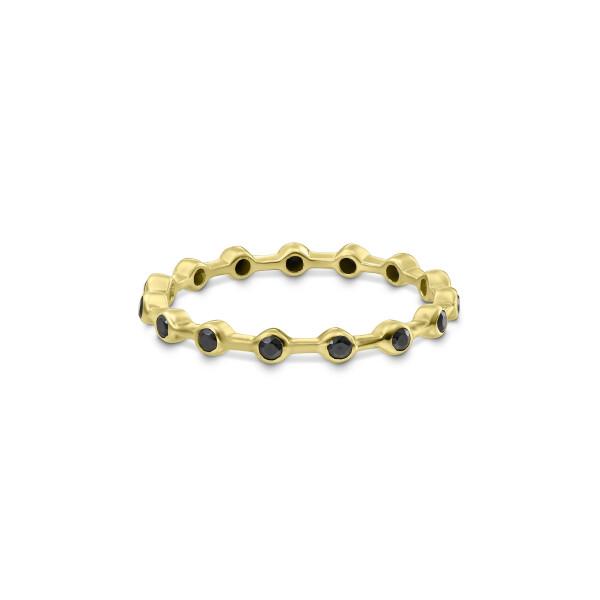 inel din aur Hidden Code II cu diamante negre
