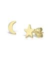 Cercei din aur Moon & Stars Lover