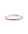 Inel din aur Coral Pink cu email roz corai