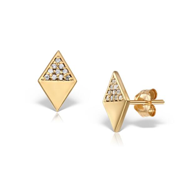 Cercei din aur Rhombus Twist