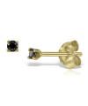 Cercei din aur Mini Black Diamonds Duo