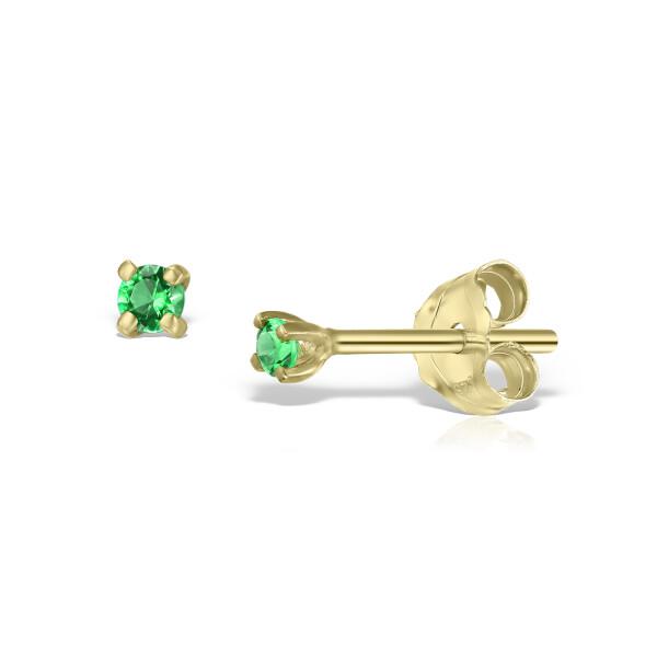 Cercei din aur Mini Emerald Duo