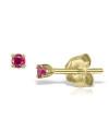 Cercei din aur Mini Ruby Duo