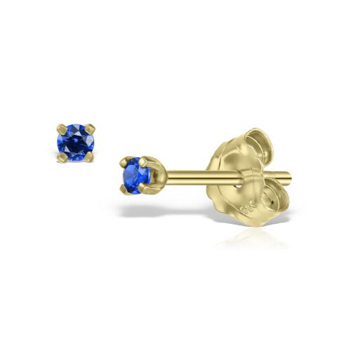 Cercei din aur Mini Sapphire Duo cu safire
