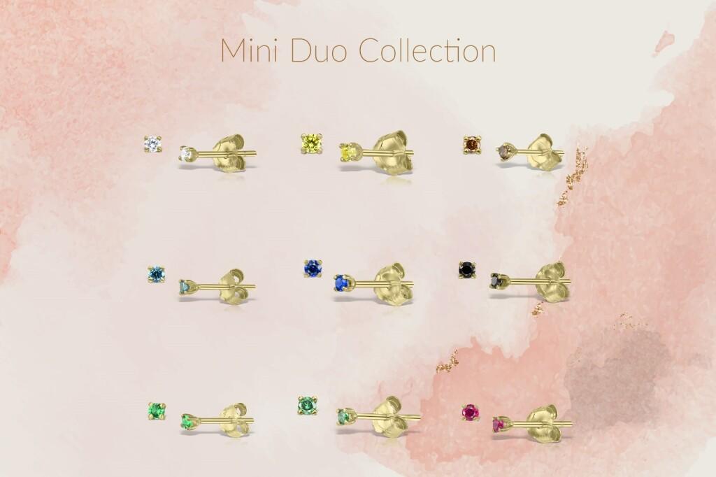Colectia de cercei Mini Duo