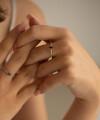 Inel Infinite Embrace cu safir lacrima si diamante 2