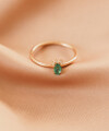 Inel Secret Whisper cu smarald oval si diamante albe 2