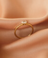 Inel Simplicity of Touch cu diamant oval