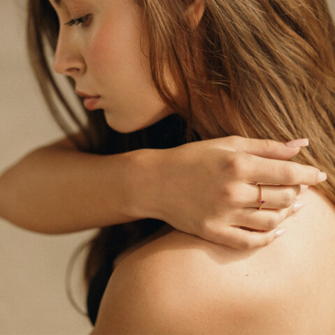 Inel Simplicity of Touch cu rubin lacrima 1