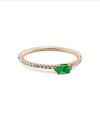 Inel din aur Infinite Embrace cu smarald marchiza