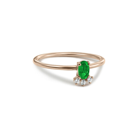 Inel din aur Secret Whisper cu smarald oval