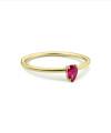 Inel din aur Simplicity of Touch cu rubin lacrima