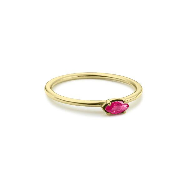 Inel din aur Simplicity of Touch cu rubin marchiza