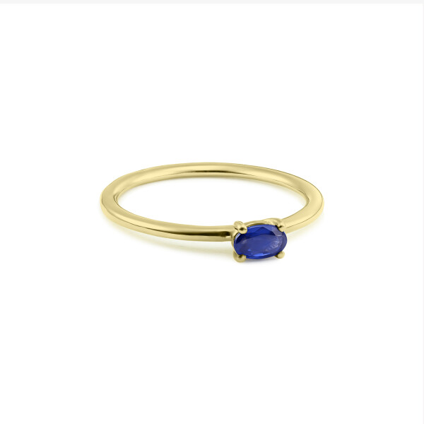 Inel din aur Simplicity of Touch cu safir oval